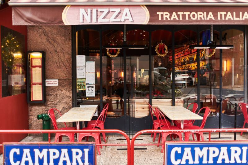 Nizza Restaurant in New York City outside dining location
