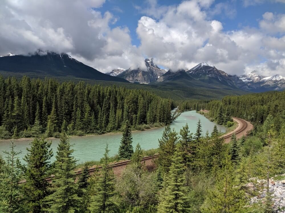 Natural scenery, river for rafting near Banff