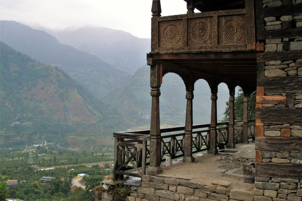 Naggar castle in the Himalayan mountains in India, attractions to visit